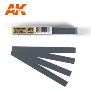 AK Interactive Sandpaper - Wet, 2000 grit x 50 Units