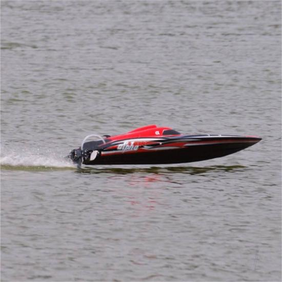 Joysway Alpha Brushless Boat 2.4GHz ARTR, Red