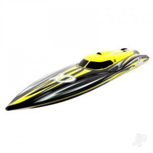 Joysway Alpha Brushless Boat 2.4GHz ARTR, Yellow