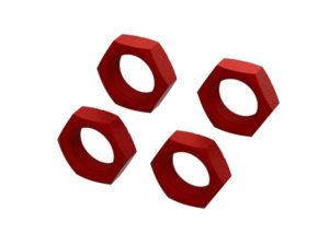 Arrma Aluminum Wheel Nut 24mm (Red) (4) ARA310929