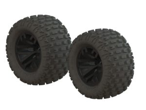 Arrma dBoots Fortress MT Tire Set Glued Blk (2)