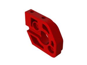 Arrma Kraton 1/5 Aluminum Motor Plate (Red) ARA320483