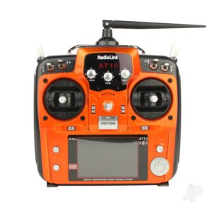 AT10II 2.4GHz 12-Channel Transmitter with Receiver (Orange)