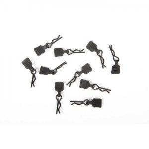 Axial 3mm Body Clip w/Tab, Black (10pc) AXI206000
