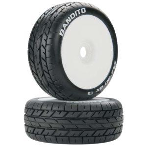 Bandito 1/8 Buggy Tire C2 Mounted White (2)