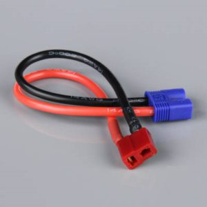 Battery Adapter, Deans (HCT) Female to EC3 Male, 14AWG, 100mm