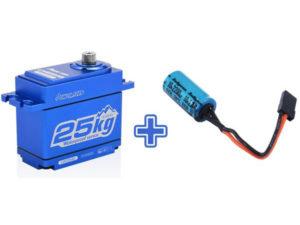 Power HD LW25 Waterproof High Torque Metal Gear, Coreless Servo - Blue HD-LW-25MG