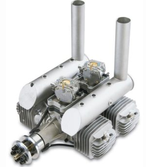 DLE 222 4 cylinder Two Stroke Petrol Engine DLE-222 222cc