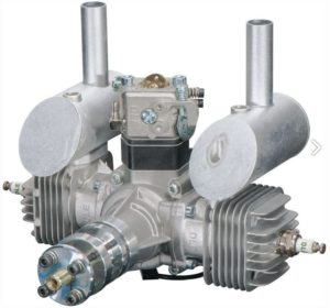DLE 40 Twin Two-Stroke Petrol Engine DLE-40 40cc