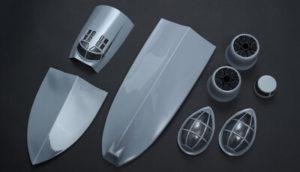 Dynam Catalina Blister Parts, Canopy etc Grey