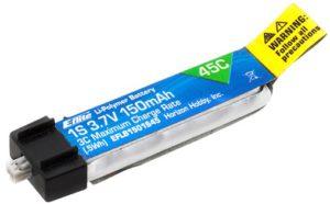 E-Flite 3.7volt 150mAh 1S 45C LiPo Battery
