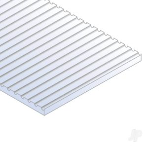Evergreen 12x24in (30x60cm) O-Scale Car Siding Sheet .040in (1.0mm) Thick (1 Sheet per pack)
