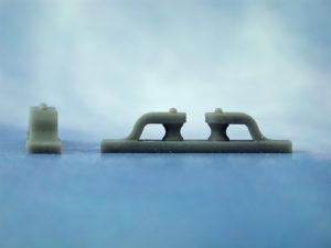 Fairlead Open (double vertical rollers) L35, W6, H7(Pk2)
