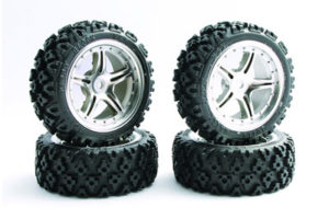 Fastrax 1/10th Touring Wheel/ Rally Block 5-Spoke Chrome