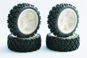 Fastrax 1/10th Touring Wheel/ Rally Block 5-Spoke White