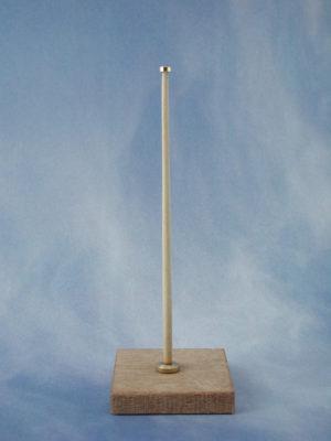 Flush Flagstaff Complete (Brass & Wood)(Pk2)