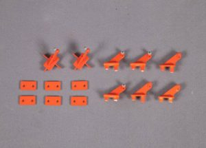 FMS 90MM SUPER SCORPION CONTROL HORNS ORANGE