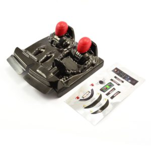 FTX OUTLAW DRIVER COCKPIT W/RED DECALS BRUSHED