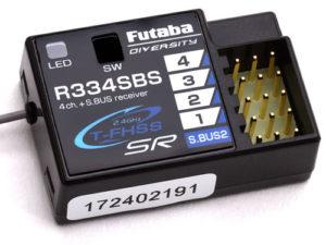 Futaba R334SBS 4-Channel T-FHSS SR Receiver - HV 2.4GHz P-R334SBS