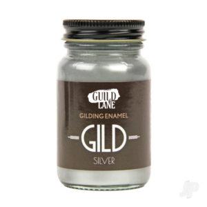 GILD Gilding Enamel Paint, Silver (60ml Jar)