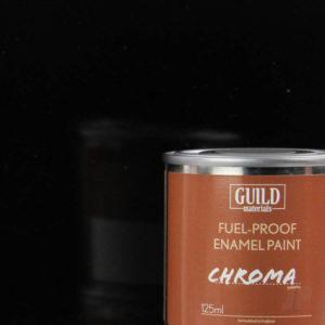Gloss Enamel Fuel-Proof Paint Chroma Black (125ml Tin)