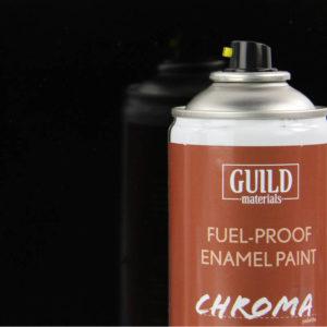 Gloss Enamel Fuel-Proof Paint Chroma Black (400ml Aerosol)
