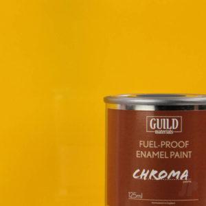 Gloss Enamel Fuel-Proof Paint Chroma Cub Yellow (125ml Tin)