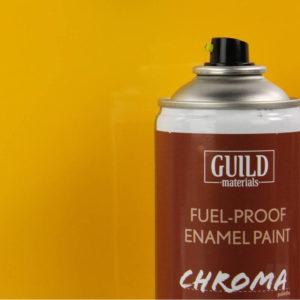 Gloss Enamel Fuel-Proof Paint Chroma Cub Yellow (400ml Aerosol)
