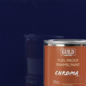 Gloss Enamel Fuel-Proof Paint Chroma Dark Blue (125ml Tin)