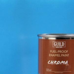 Gloss Enamel Fuel-Proof Paint Chroma Light Blue (125ml Tin)
