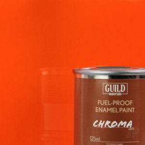 Gloss Enamel Fuel-Proof Paint Chroma Orange (125ml Tin)
