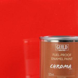Gloss Enamel Fuel-Proof Paint Chroma Red (125ml Tin)