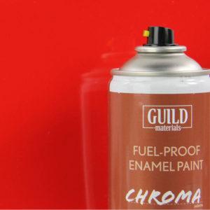 Gloss Enamel Fuel-Proof Paint Chroma Red (400ml Aerosol)