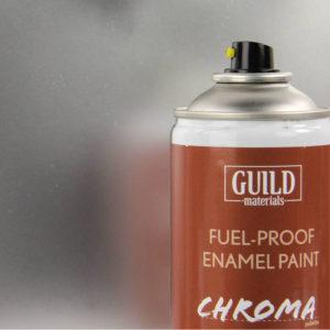 Gloss Enamel Fuel-Proof Paint Chroma Silver (400ml Aerosol)
