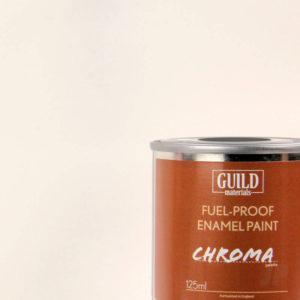 Gloss Enamel Fuel-Proof Paint Chroma White (125ml Tin)