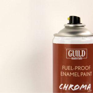 Gloss Enamel Fuel-Proof Paint Chroma White (400ml Aerosol)
