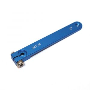 "Hitec Aluminium Servo Arm 2"" M3 (Blue)"