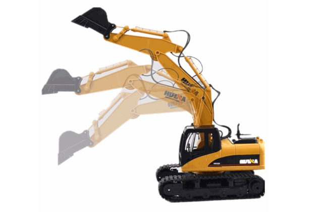 Huina 1/14TH Scale RC Excavator 2.4G 15 ch Die Cast Bucket