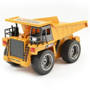 Huina 2.4G 6ch RC Dump Truck with diecast cab