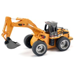 Huina 2.4G 6ch RC Excavator with diecast bucket