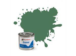 Humbrol 101 Mid Green Matt - 14ml Enamel Paint
