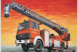 Italeri 1/24 FIRE LADDER TRUCK IVECO