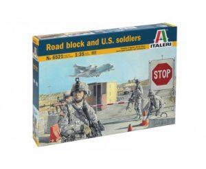 Italeri 1/35 Road Block and U.S. Soldiers # 6521