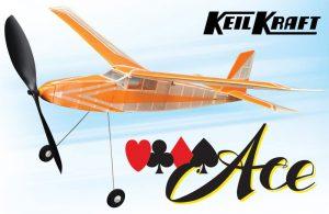 "Keil Kraft Ace Kit - 30"" Free-Flight Rubber Duration"