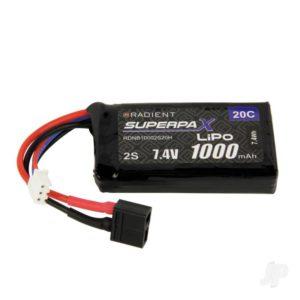 Radient LiPo 2S 1000mAh 7.4V 20C Deans (HCT)