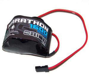 Marathon 1600 Receiver Pack 6.0V Standard Hump NiMH w/Universal