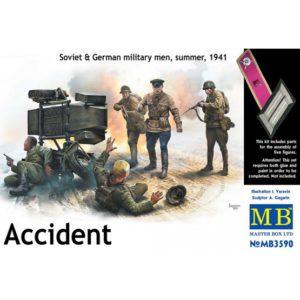 Masterbox 1/35 Accident Soviet & German Military 1941 # 3590