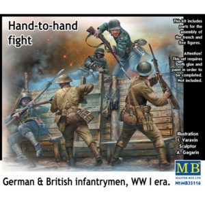 Masterbox Hand to Hand Fight, German and British Infantrymen