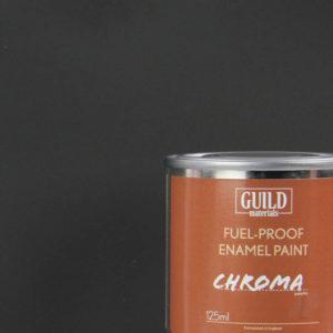 Matt Enamel Fuel-Proof Paint Chroma Black (125ml Tin)