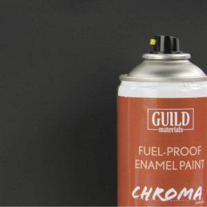 Matt Enamel Fuel-Proof Paint Chroma Black (400ml Aerosol)